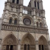 The entrance to the Notre Dame cathedral