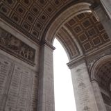 Arc de Triomphe from underneath