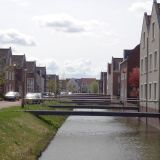 Bridges leading to houses in Utrecht