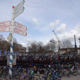 The bike racks at the centraal station