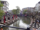 Restaurants alongside the canals of Utrecht