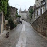 Streets of Grignan leading to Château de Grignan