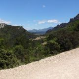 View someway up the Dentelles de Montmirail