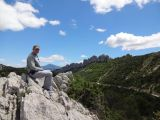 Relaxing on the Dentelles de Montmirail