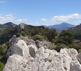 Panoramic of the view from the Dentelles de Montmirail