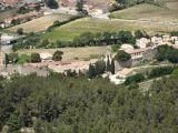 The village of Gigondas as seen from the Dentelles de Montmirail
