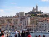 Notre Dame de la Garde seen from the Vieux Port