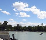 Panoramic of the Parque del Retiro