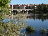Looking along the Rio Tormes