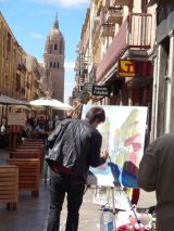 Artists on the streets of Salamanca