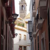 Streets of Sevilla with the Catedral popping up