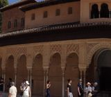 Panoramic of the Patio de los Leones