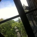 View through the window of the Main House, Quinta da Regaleira