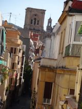 Streets of Granada with the Catedral