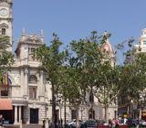 Panoramic of the Plaça de l'Ajuntament