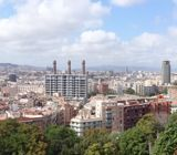 Panoramic of Barcelona as seen from Parc de Montjuïc