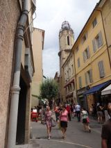 Streets of Aix with Eglise du Saint Esprit