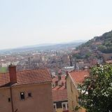 Looking out over Lyon from la Croix Rousse
