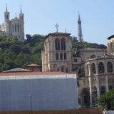 Trésor de la Chatédrale Saint-Jean Baptiste with the Basilique Notre-Dame de Fourvière in the background