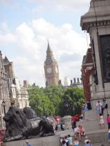 View of Big Ben from Trafalgar Square