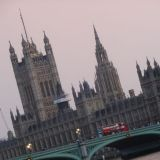 Westminster Palace at sunset