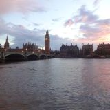 The Thames at sunset