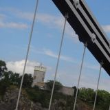 Looking at the Clifton Observatory through the Clifton Bridge