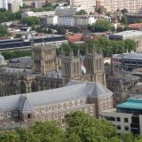 Bristol Cathedral as seen from Cabot Tower
