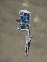Naked Man image - a Banksy original