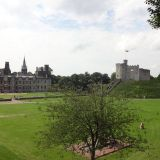 The interior grounds of the Cardiff Castle