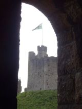 View of the Norman Keep from the walls of the Cardiff Castle