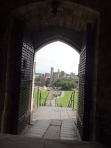 The view of the Cardiff Castle from the Norman Keep