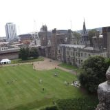 The interior of the Cardiff Castle from above