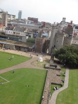 Cardiff central behind the Cardiff Castle