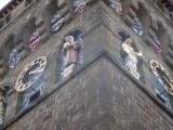 Detail of the Clock Tower of the Cardiff Castle