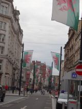 Welsh flags along St. John Street