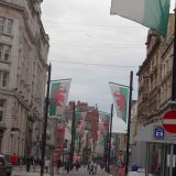 Welsh flags along St. John Street