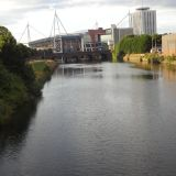 The Millennium Stadium on the River Taff