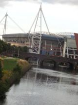 The Millennium Stadium on the River Taff
