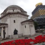 Hall of Memory with the Library of Birmingham behind