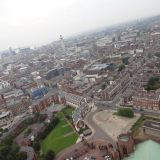 Looking towards downtown Liverpool from atop the Liverpool Cathedral