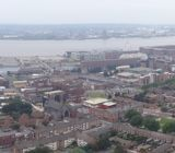 Panoramic of Liverpool as seen from atop the Liverpool Cathedral
