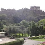 View of the Edinburgh Castle from the Princes Street Gardens