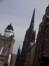 Looking down the Royal Mile