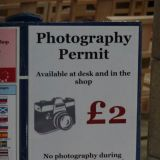 Ridiculous photography permit - not adhered to