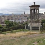 Dugal Steward Monument on Calton Hill with Edinburgh in the background