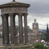 Dugal Steward Monument with Edinburgh in the background
