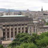 The Scottish Government with Edinburgh in the background