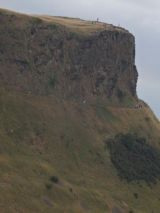 The ledge of Salisbury Crags