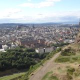 Edinburgh as seen from Holyrood Park